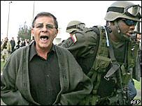 Colombian security forces escort Farc rebel Rodrigo Granda in Bogota