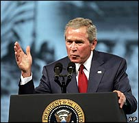 George Bush addresses veterans