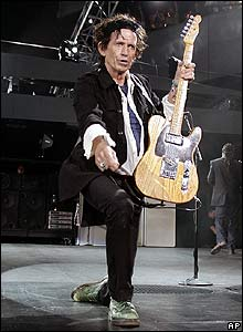 The Rolling Stones' Keith Richards at Fenway Park in Boston