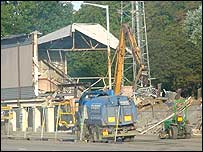 Demolition of the Old Stand
