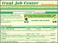 Página web con ofertas de trabajo en Irak.
