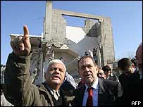 EU foreign policy chief Javier Solana visits the Jabaliya refugee camp in the northern Gaza Strip