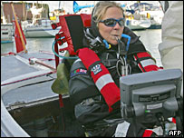 Mrs Lister attempting to become the first quadriplegic to sail the English Channel