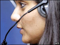 Indian call centre worker