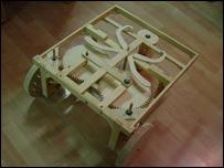 Reproducción de un invento de Da Vinci (gentileza Anthelios)
