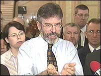 Gerry Adams warned republicans to resist discrimination
