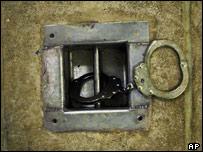 Handcuffs at Guantanamo Bay