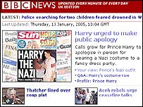 Harry leads the BBC News website agenda
