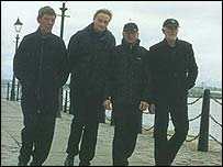 Eric Griffiths, Len Garry, Colin Hanton and Rod Davis