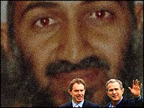 Blair and Bush in the shadow of Osama Bin Laden