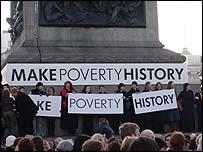 Campaigners in Trafalgar Square