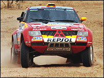 Stephane Peterhansel's Mitsubishi