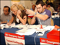 Celebrities man the phones at the DEC call centre