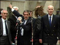 The Birmingham Six celebrate their release in 1991
