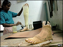 Prosthesis limb workshop in Kilinochchi