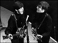 Paul McCartney and John Lennon in The Beatles