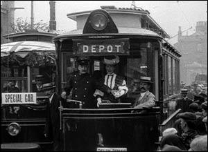 Accrington Electric Trams. Copyright: The British Film Institute
