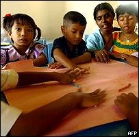 Children at school in Galle, Sri Lanka