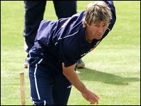 Glenn McGrath in action for Australia