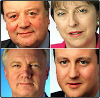 Kenneth Clarke MP, Theresa May MP, David Davis MP, David Cameron MP