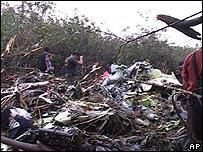 Escombros del avión