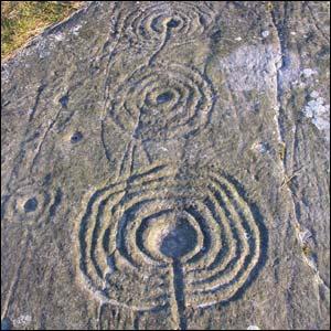 Example of rock art at Weetwood Moor, Northumberland