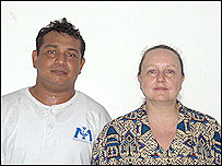 Yahdi Istens and wife Linda North
