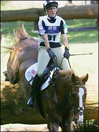 Zara Phillips and Toytown tackle Luhmuhlen's tough cross-country course