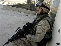 US Marine near Baghdad