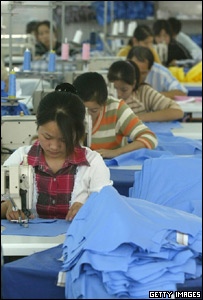 Chinese textile workers