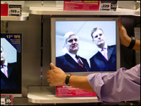 Televisions for sale at Dixons