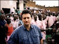 Fergal Keane in Rwanda in 1997