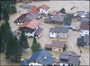 Floods in Tirol, Austria