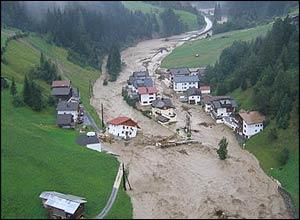 Floods in Tirol, Austria