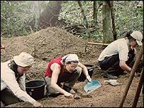 Arqueólogos en Darién