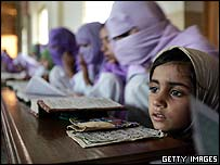 A young madrassa student in Multan, Pakistan