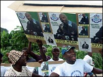 George Weah supporters rallying in Liberia (Photo by Jonathan Paye-Layleh)