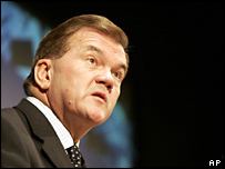 Outgoing US head of Homeland Security Tom Ridge