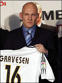 Danish midfielder Thomas Gravesen