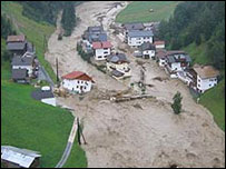 Floods in Tirol, Austria (Pic: Reader Michaela)