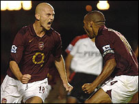Pascal Cygan and Thierry Henry