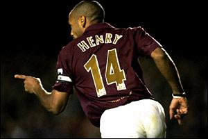 Thierry Henry scores a second-half brace
