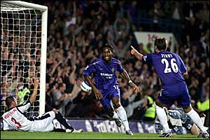 Dider Drogba scores Chelsea's third