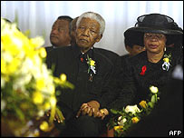 Nelson Mandela and Graca Machel at Saturday's ceremony