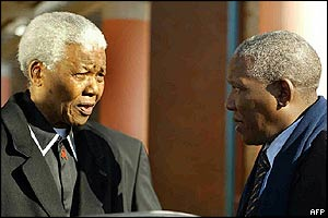 Nelson Mandela and Makgatho Mandela, pictured in 2003