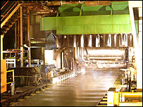 Corus aluminium production line