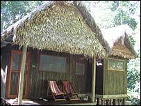 Huts at Chalalan ecolodge