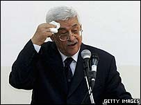 Mahmoud Abbas at his inauguration