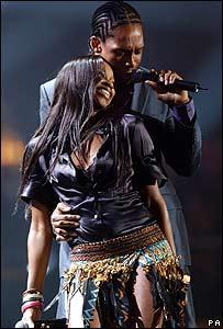 Lemar and Jamelia at the Brit Awards