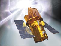 The Swift spacecraft.  Photo:Spectrum and Nasa E/PO, Sonoma State University, Aurore Simonnet